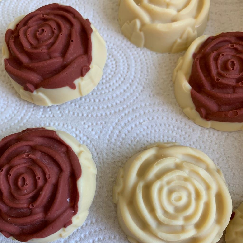 Goat milk rose soaps
